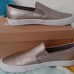 Restricted textured slip on shoes size 8